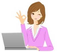 女性 パソコン OK