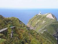 積丹半島の風景 神威岬灯台