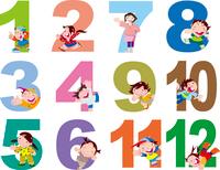 数字と子供12ヶ月