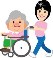 老人と介護師