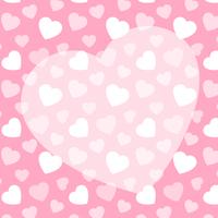 ピンクのハート柄+ハートのコピースペース 背景素材 バレンタイン 正方形