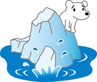 白熊と流氷