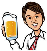 ビールと男性