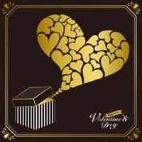 ギフトボックスのバレンタインカード