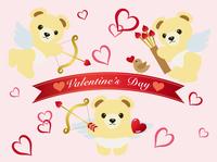 テディベアの天使 バレンタインカード