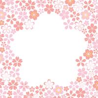 桜のフレーム素材