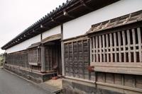 萩の町並み 旧武家屋敷長屋門跡
