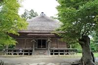 平泉の風景 毛越寺跡(常行堂)