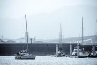 冬のヨットハーバー