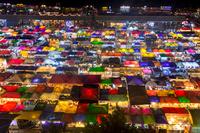 バンコク市内のナイトマーケット