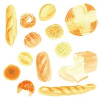 パン・水彩