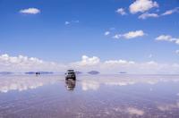 ウユニ塩湖のドライブ