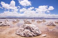 ウユニ塩湖の塩山