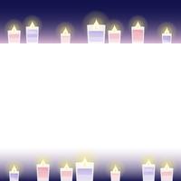 feminine candle frame