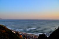 うねり(波)が来ている鎌倉の海
