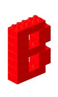 ブロックアルファベットB