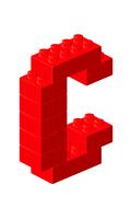 ブロックアルファベットC