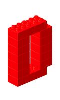 ブロックアルファベットD