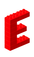 ブロックアルファベットE