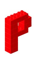 ブロックアルファベットP