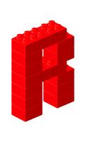 ブロックアルファベットR