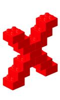 ブロックアルファベットX