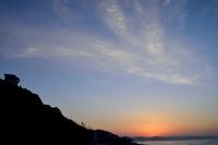 鎌倉七里ヶ浜の早朝