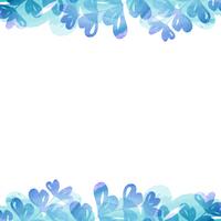 フレーム・植物・水彩