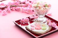 雛あられ 雛祭り 桃の花