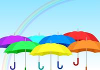 傘 七色 一列 横