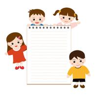 子供たちと白紙のノート