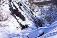 厳冬期のオシンコシンの滝