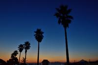 夕日に染まった片瀬江ノ島