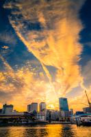神戸の夕焼け空