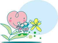 花のカップル