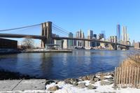雪とブルックリンブリッジ