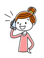 電話:女性、主婦、話す