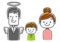 3人家族:夫と死別