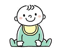 赤ちゃん:やさしい笑顔