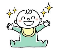 赤ちゃん:キラキラした笑顔