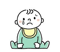 赤ちゃん:悲しい表情