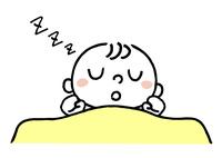 赤ちゃん:布団で寝る