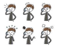 電話:男子学生、セット、バリエーション