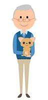 シニア男性 ペット 犬