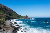 日本海の波飛沫