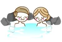 シニア夫婦 温泉