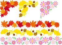 飾り罫 秋