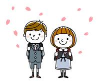 入学式イメージ:男の子と女の子