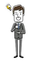 男性ビジネスマン:納得、アイデア、気がつく