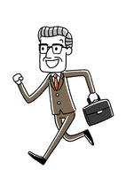 シニアビジネスマン:走る